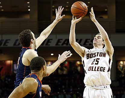 Boston College's Joe Rahon drains a game-winning 3-pointer with 8.2 seconds to play to lift BC past Virginia. (USATSI)