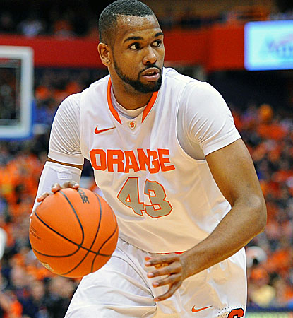 James Southerland drives in for two of his 22 points during his final home game at Syracuse.  (USATSI)