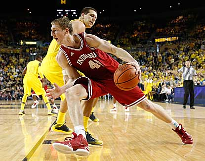 Cody Zeller scores 25 points, including the game-winning layup in the waning seconds of Indiana's win over Michigan. (Getty Images)