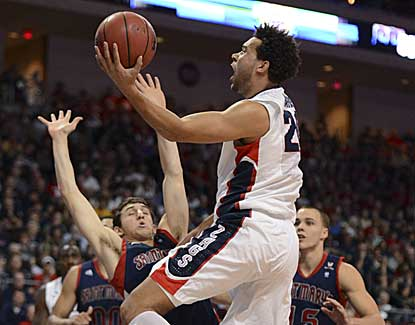 Elias Harris and the Zags take care of business, all but locking up a No. 1 seed. (USATSI)