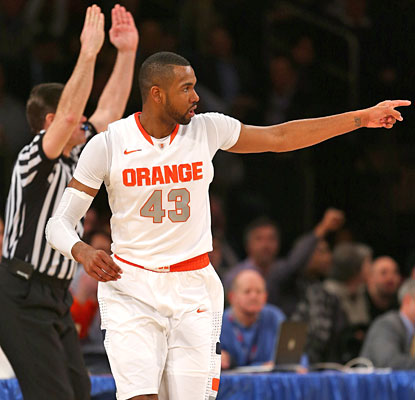 James Southerland helps Syracuse dig out of an early hole with five first-half 3-pointers.  (Getty Images)