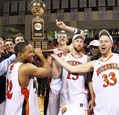 Bucknell wins the Patriot League title and earns its second trip to the NCAA tournament in three seasons.  (USATSI)