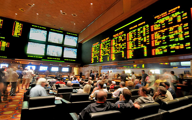 Las Vegas sports books are hot tickets during the NCAA tournament every March. (Getty Images)
