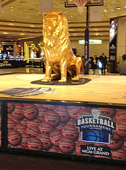 The MGM Grand gives the Pac-12 a Vegas look. (Dennis Dodd)