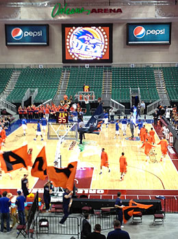 The Orleans Arena is hosting the WAC tourney. (Dennis Dodd)