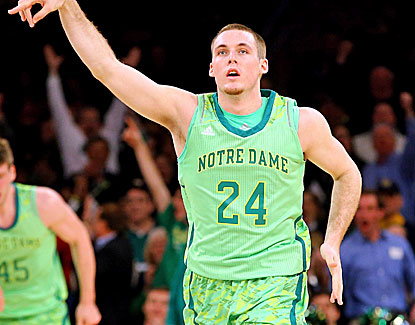 Pat Connaughton scores 18 points on six 3-pointers to help lift Notre Dame against Marquette.  (Getty Images)