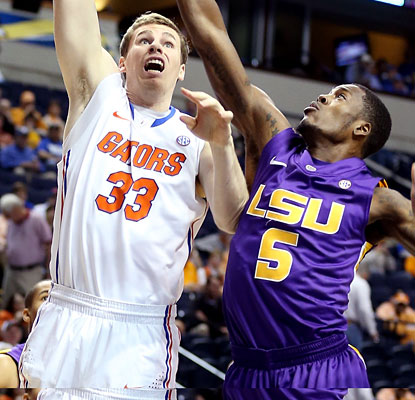 Erik Murphy shakes off fears of a knee injury to record career highs in points (27) and rebounds (12) vs. LSU.  (Getty Images)