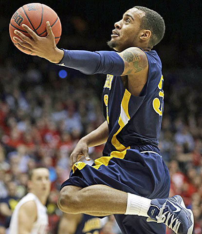 North Carolina A&T guard Jeremy Underwood comes off the bench to score 19 points in a win over Liberty. (AP)
