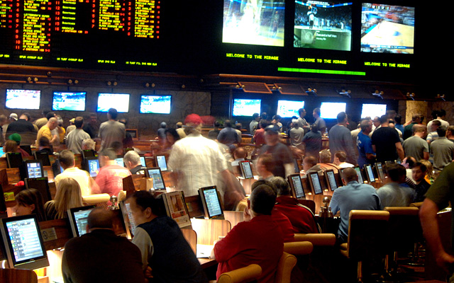 Las Vegas' sports books have no trouble filling seats during the NCAA tournament. (Getty Images)