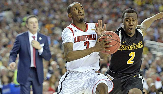With Pitino watching, Russ Smith blows past Malcolm Armstead. (USATSI)