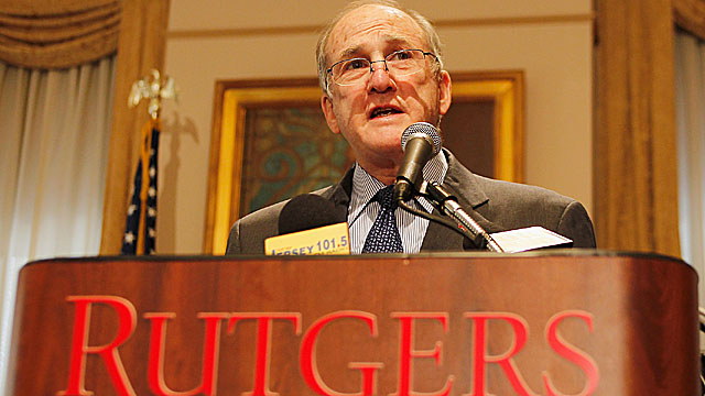 Rutgers President Robert Barchi announced the resignation of lawyer John Wolf. (Getty Images)