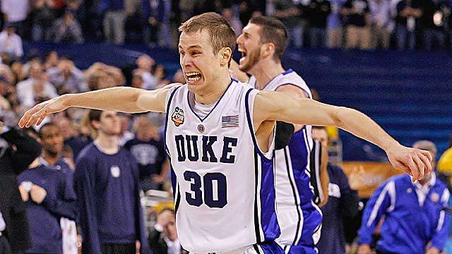 Scheyer was the captain of Duke's national title team in 2010. (Getty Images)