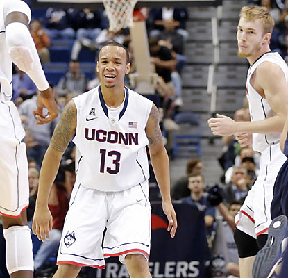 Senior guard Shabazz Napier produces a triple-double with 14 points, 11 rebounds and 10 assists against Yale. (USATSI)