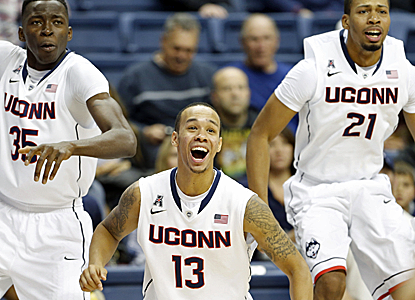 No. 19 UConn puts six players in double digits en route to a big, 46-point victory over Detroit.  (USATSI)