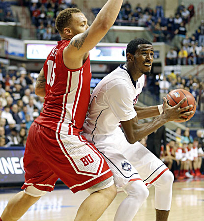 DeAndre Daniels scores a game-high 24 points to lead No. 19 UConn past pesky Boston University on Sunday. (USATSI)