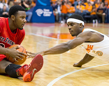 The Orange, who overcome a tough battle against the Terriers, score the final 10 points to seal the win. (Getty Images)