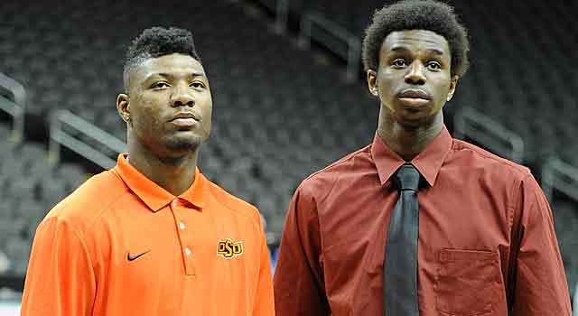 Marcus Smart couldn't escape Andrew Wiggins at Big 12 Media Day, but he's center stage Tuesday. (USATSI)