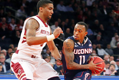 Ryan Boatwright, who sinks two FTs with 7.9 seconds left, and blocks a 3-point attempt at the buzzer, seals it for UConn. (USATSI)