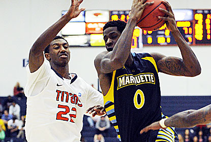 Jamil Wilson has 24 points and nine boards as Marquette relegates host Cal State Fullerton to the consolation game. (USATSI)