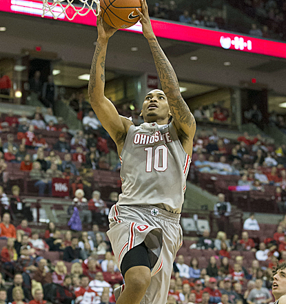 LaQuinton Ross snaps out of his early season funk with a career-high 23 points in Ohio State's victory.  (USATSI)