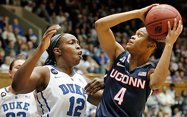 Top-ranked UConn shoots 49 percent from the field in its dominant victory over No. 2 Duke. (USATSI)