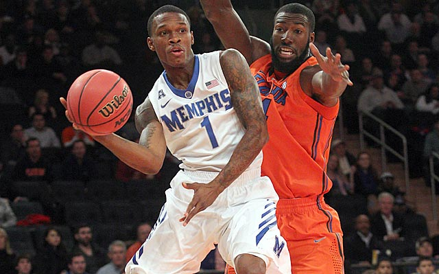 Joe Jackson (left) and Patric Young help Memphis and Florid put on a good show for the NCAA selection committee.
