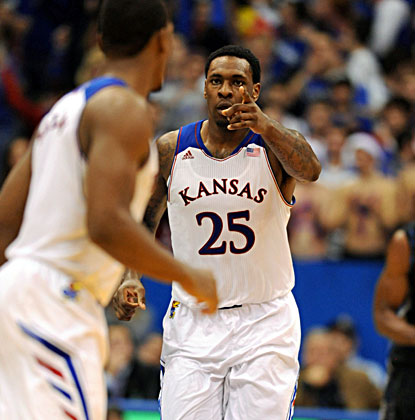 Tarik Black comes off the bench to score 17 points in the Jayhawks' 88-64 win over visiting Georgetown at Allen Fieldhouse. (USATSI)