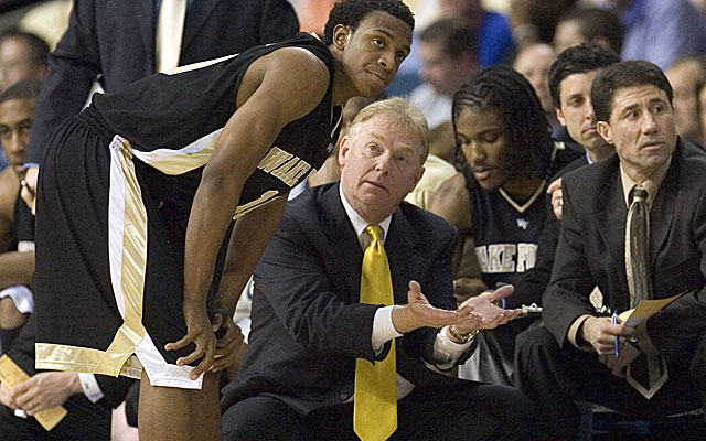 Skip Prosser was the head coach at Wake Forest when he died in 2007. (Getty)