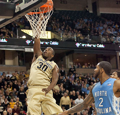 Travis McKie (16 points) and the Demon Deacons take control midway through the second half and stifle the Tar Heels. (USATSI)