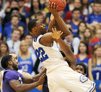 Freshman Andrew Wiggins (22 points) helps the Jayhawks get the best of the Wildcats in the latest Sunflower Showdown. (USATSI)