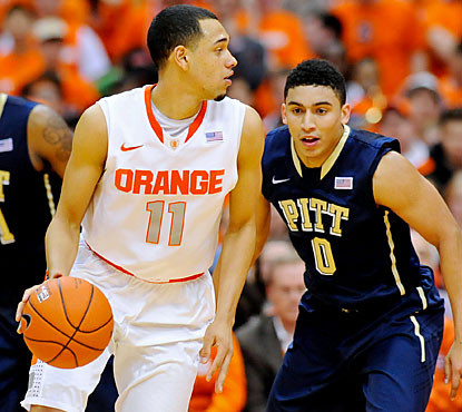 Freshman guard Tyler Ennis leads the Orange with 16 points on 5-of-8 shooting.  (USATSI)