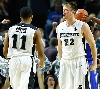 Bryce Cotton (left) scores 23 points to help Providence knock off Creighton for its third straight Big East win. (USATSI)