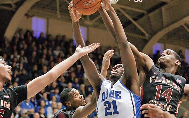The Blue Devils grab 27 offensive boards, resulting in 29 second-chance points. (USATSI)