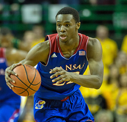 Freshman Andrew Wiggins (14 points) and the Jayhawks bounce back from their first Big 12 loss. (USATSI)