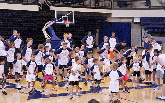 Kids take over the Marquette arena every August for the Buzz's Bunch camp. (Provided by Robbin Lyons)