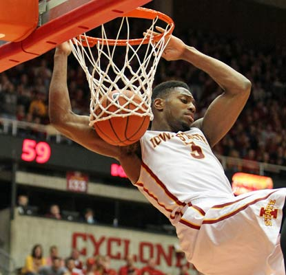 Iowa State's Melvin Ejim sets a Big 12 record with 48 points on 20-for-24 shooting and also adds 18 boards.  (USATSI)