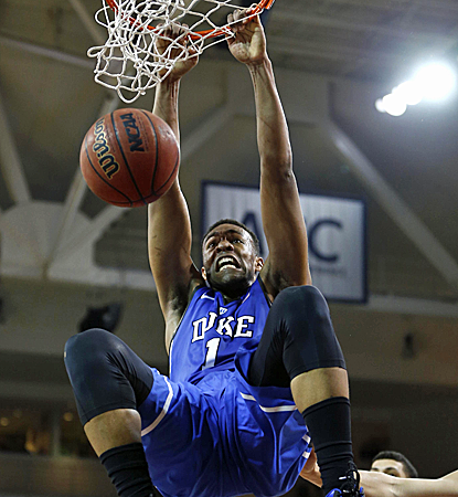 Jabari Parker is a beast in the middle, posting career highs of 29 points and 16 rebounds as Duke overpowers Boston College.  (USATSI)