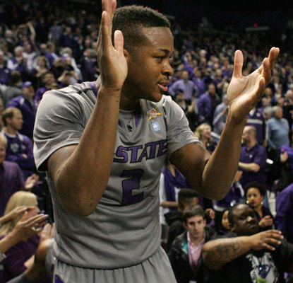 Kansas State avenges a blowout loss at Kansas earlier this year, and gets a big tournament résumé win.  (USATSI)