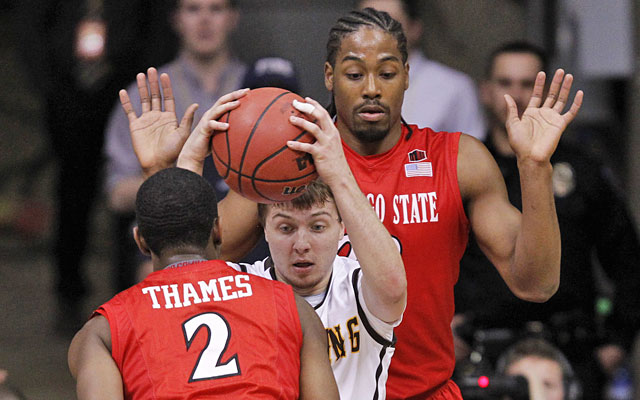San Diego State's loss at Wyoming on Tuesday knocks the Aztecs off the top line of the bracket. (USATSI)