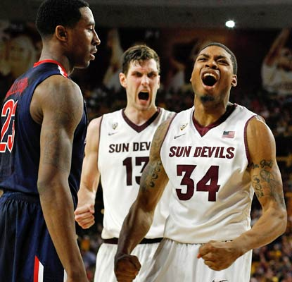 Jermaine Marshall drops 29 points on Arizona -- eight in the second overtime -- to lead the Sun Devils to a defining victory.  (USATSI)