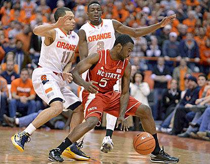 No. 1 Syracuse capitalizes on some late turnovers by NC State to escape with a one-point victory. (USATSI)
