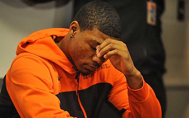 Marcus Smart's draft stock has fallen, but will his OSU body of work go overlooked? (USATSI)