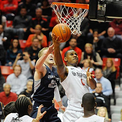 San Diego State forward Skylar Spencer drives to the basket during the second half of the Aztecs' easy victory. (USATSI)