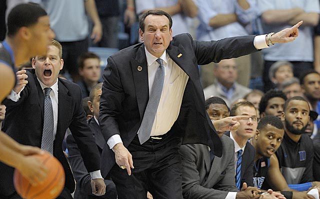 Mike Krzyzewski says his Blue Devils 'didn't ante up the way we should've.'