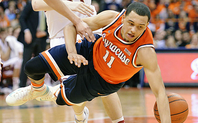 Losing at home to Boston College costs Syracuse the No. 1 overall seed ... for now. (USATSI)