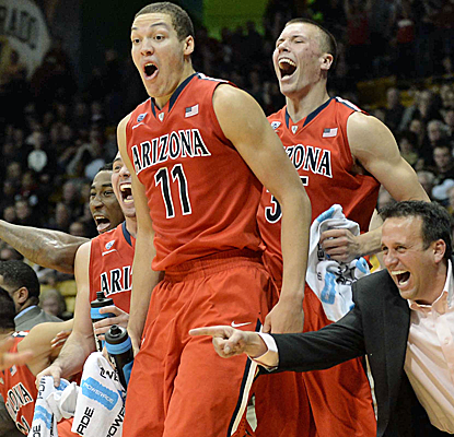 No. 4 Arizona is having a good time after pulling away from Colorado in the second half for an easy victory.  (USATSI)