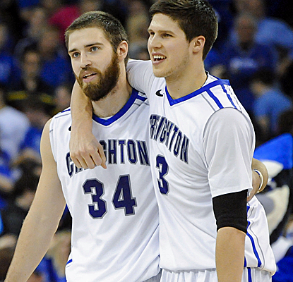 Doug McDermott and his No. 11 Bluejays breathe a sigh of relief after holding off a game Seton Hall team.  (USATSI)