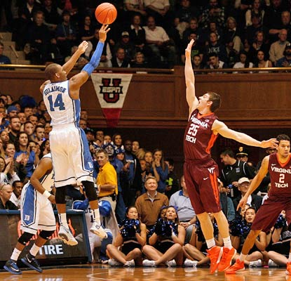 Duke's Rasheed Sulaimon chips in with 15 points to help the sixth-ranked Blue Devils cruise past the Hokies.  (USATSI)