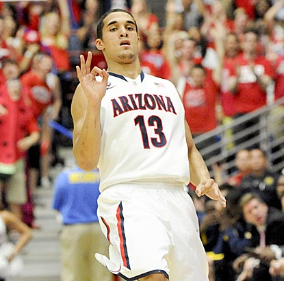Nick Johnson seems pretty pleased with how well things went for himself and host Arizona against California.  (USATSI)
