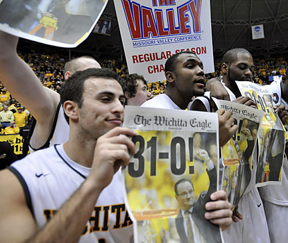 Wichita State (31-0) becomes the first team in 10 seasons to enter its league tournament unbeaten. (Getty Images)